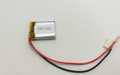 Small Li Po Battery LP502025 3.7V 200mAh 0.74Wh