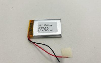 Best LiPo Battery LP502540 3.7V 500mAh 1.85Wh