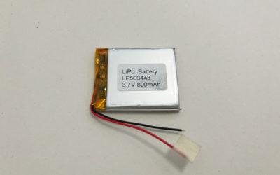 Li Polymer Battery LP503443 3.7V 800mAh 2.96Wh