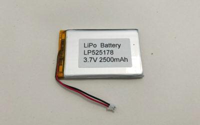 LP525178 3.7V 2500mAh 9.25Wh Li Poly Battery