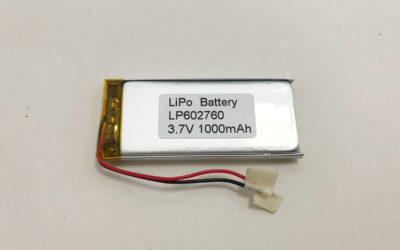 LP602760 3.7V 1000mAh LiPo Battery