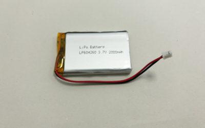 LiPo Battery LP604260 3.7V 2000mAh 7.4Wh