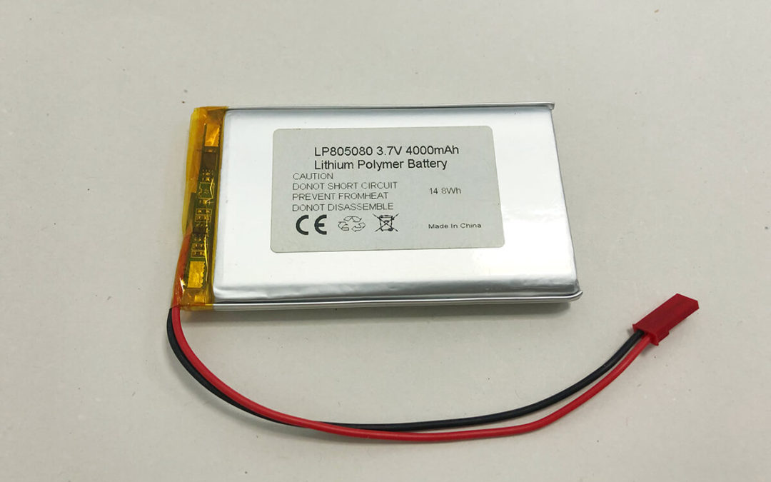 LP805080 3.7V 4000mAh 14.8Wh Lithium Polymer Battery