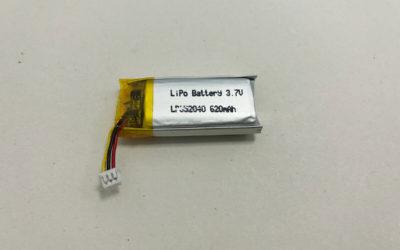 Polymer Battery LP852040 3.7V 620mAh 2.294Wh