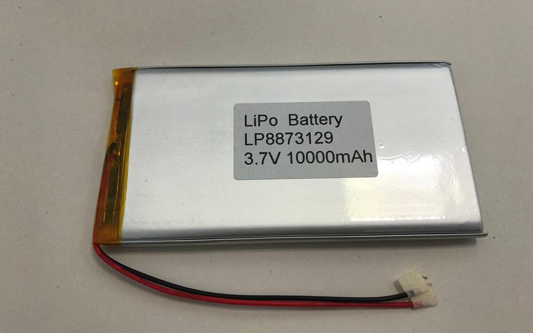 Lithium Polymer Battery LP8873129 3.7V 10000mAh 37Wh