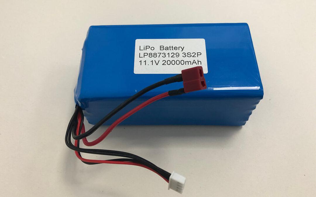 20000mAh LiPo Battery LP8873129 3S2P 11.1V