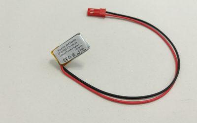 Small Lithium Polymer Battery LP301020 3.7V 50mAh
