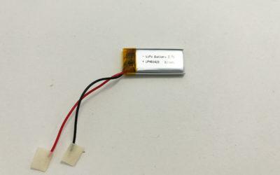 Slim LiPo Battery LP401428 3.7V 115mAh 0.4255Wh
