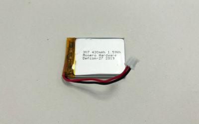 New LiPol Battery LP403040 3.7V 430mAh 1.59Wh