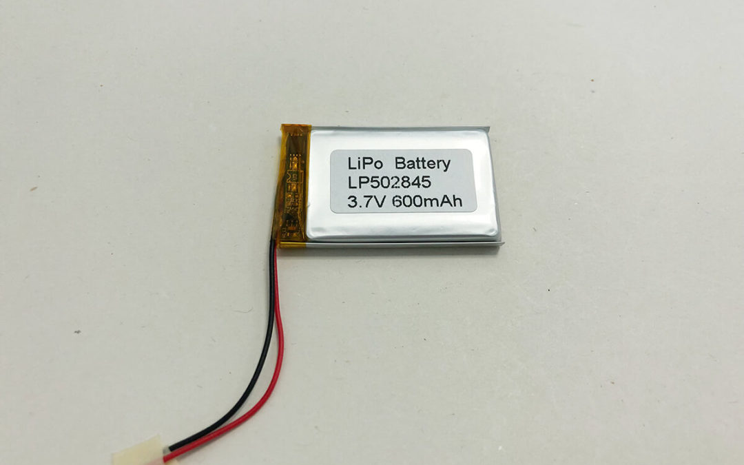 600mAh LiPo Battery LP502845 3.7V 600mAh 2.22Wh