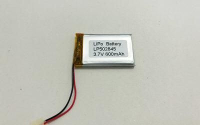 600mAh LiPo Battery LP502845 3.7V 600mAh 2.22Wh