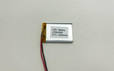 1000mAh LiPo Battery LP543450 3.7V 1000mAh 3.7Wh