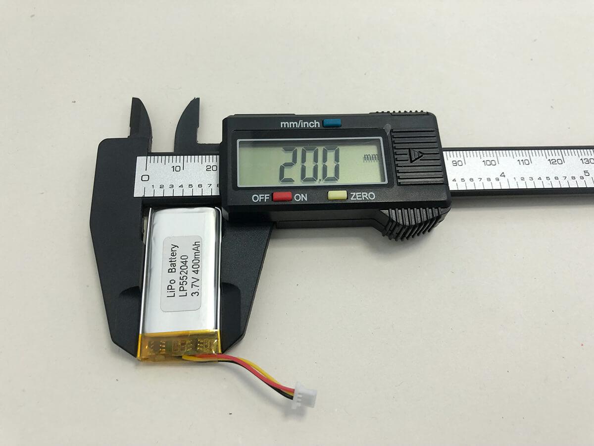 LiPo_Battery_LP552040 3.7V 400mAh 2