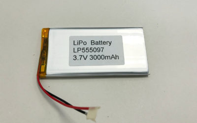 3000mAh LiPo Battery LP555097 3.7V 3000mAh 11.1Wh
