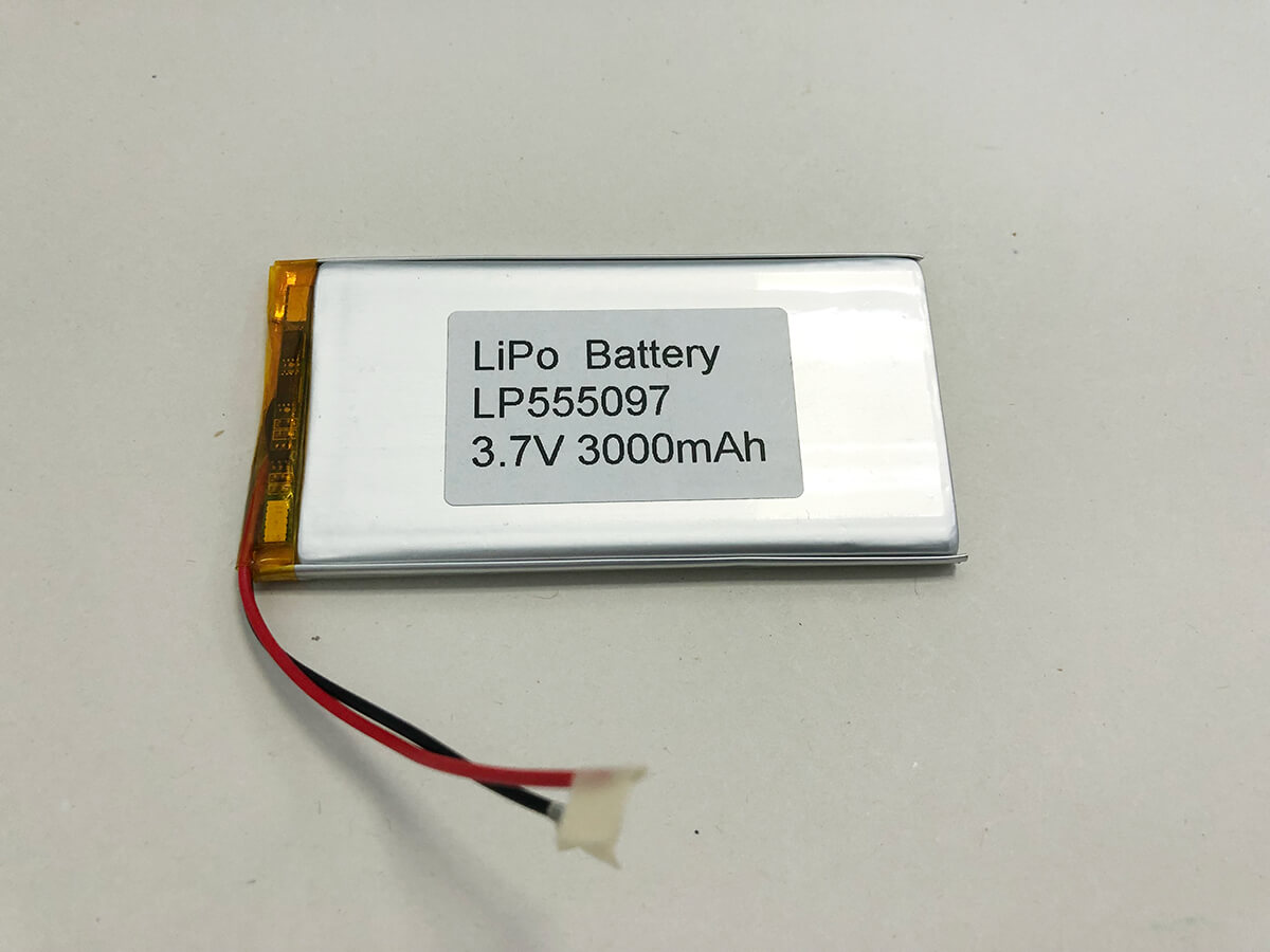 LiPo_Battery_LP555097 3.7V 3000mAh 0