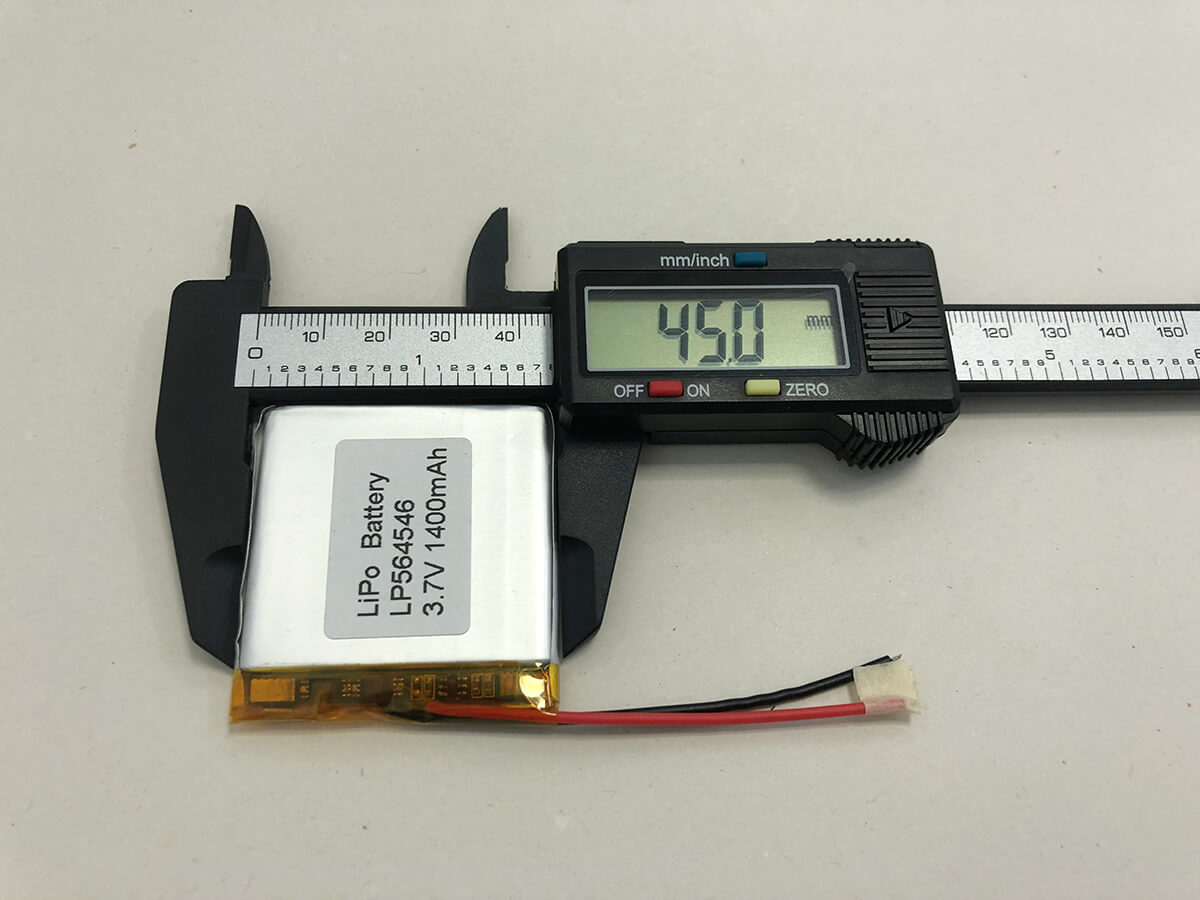 LiPo_Battery_LP564546 3.7V 1400mAh 2