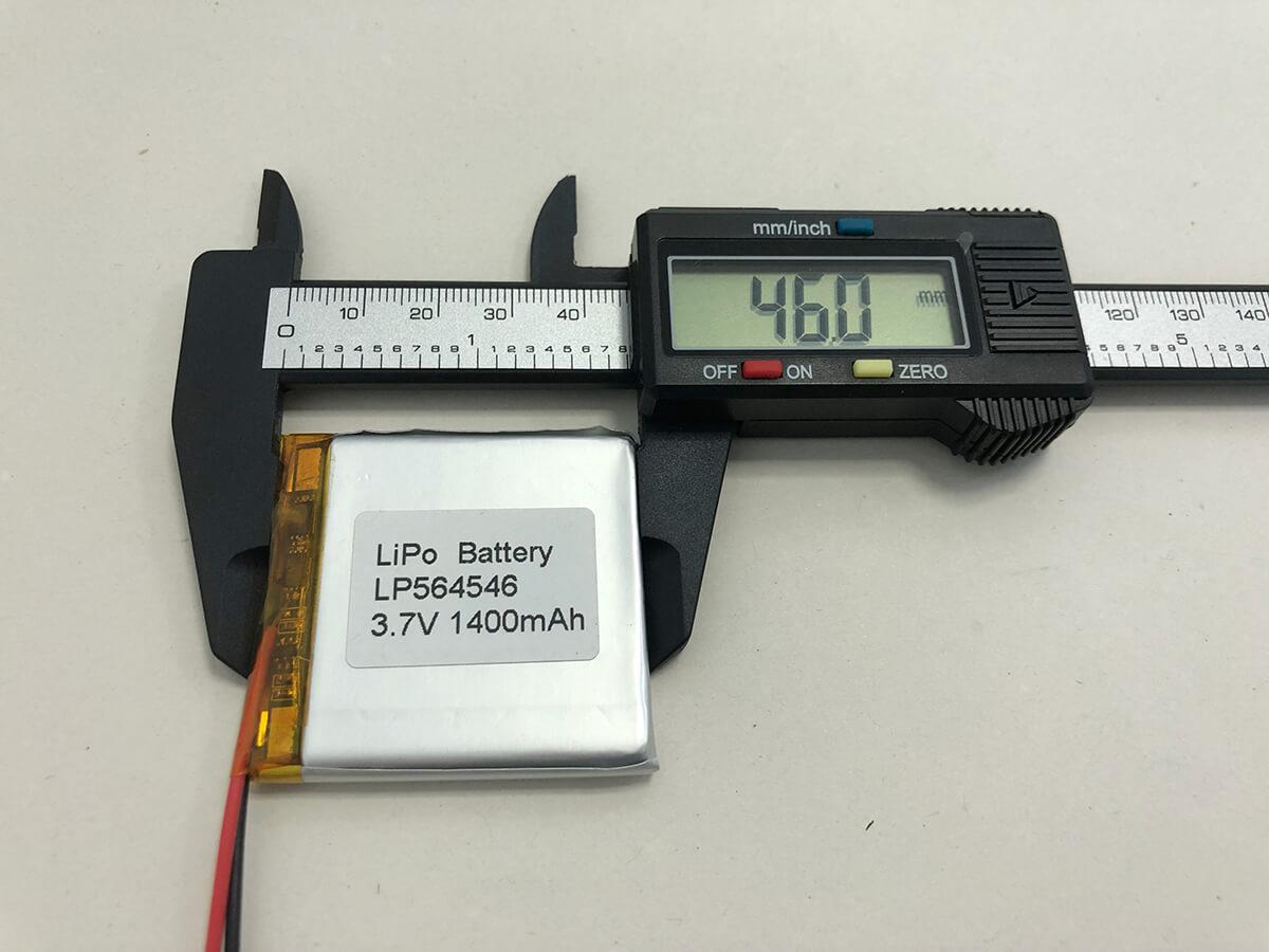 LiPo_Battery_LP564546 3.7V 1400mAh 3