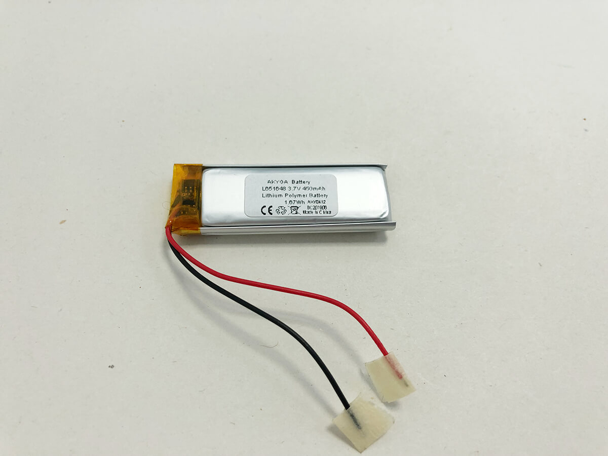 LiPo_Battery_LP651648 3.7V 450mAh 0