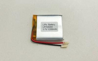1200mAh Li Poly Battery LP704044 3.7V 1200mAh 4.44Wh