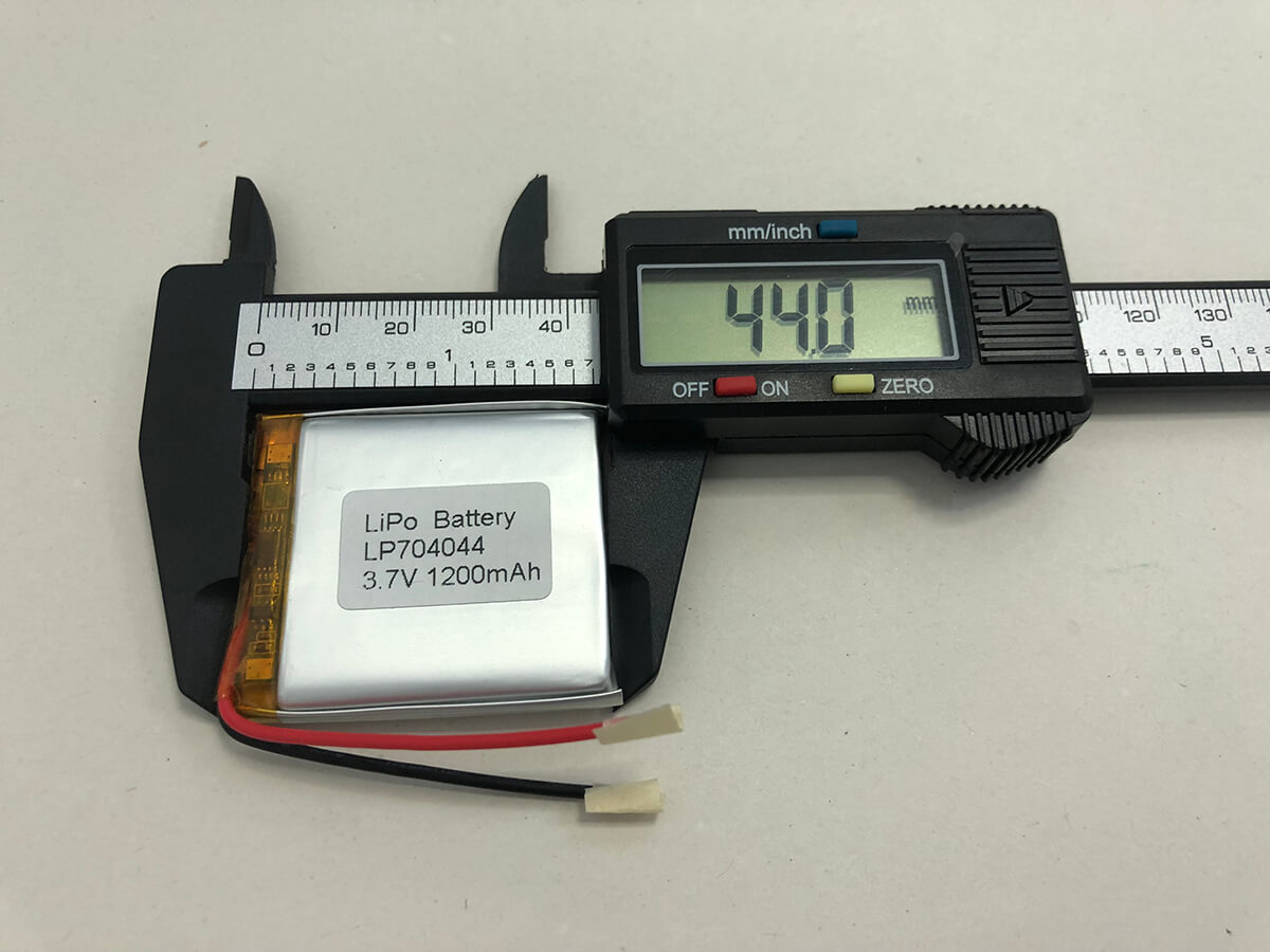 LiPo_Battery_LP704044 3.7V 1200mAh 3