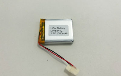 Rechargeable LiPo Battery LP753440 3.7V 1000mAh