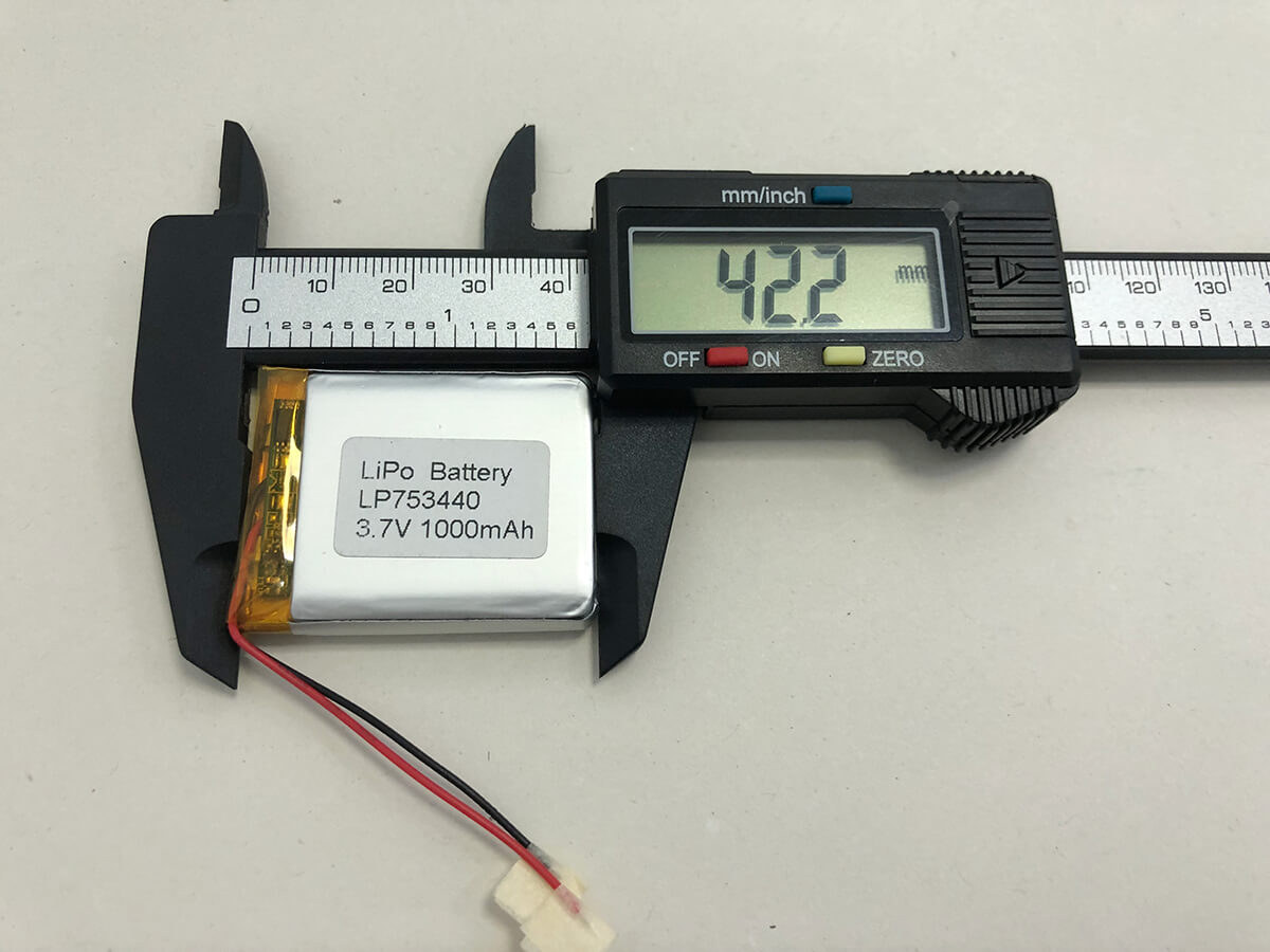 LiPo_Battery_LP753440 3.7V 1000mAh 3