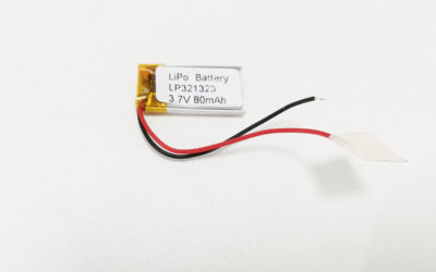 LiPo Battery LP321323 3.7V 80mAh