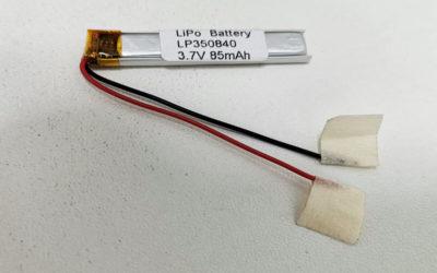 LiPo Battery LP350840 3.7V 85mAh