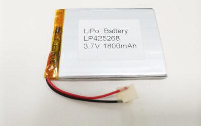 LiPo Battery LP425268 3.7V 1800mah