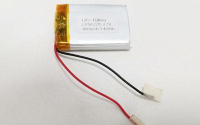 LiPo Battery LP502535 3.7V 400mAh
