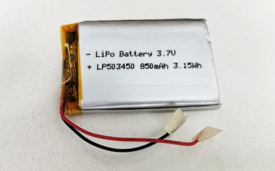 LiPo Battery LP503450 3.7V 850mAh