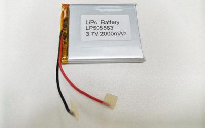 LiPo Battery LP505563 3.7V 2000mah