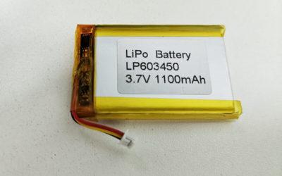 LiPo Battery LP603450 3.7V 1100mAh