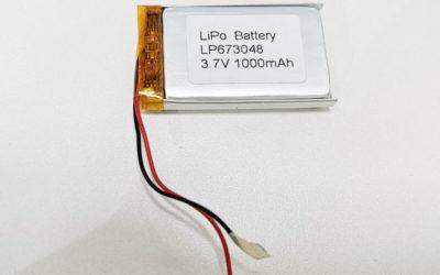 LiPo Battery LP673048 3.7V 1000mAh