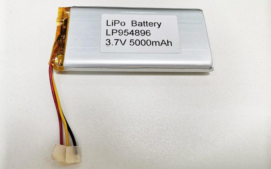 LiPo Battery LP954896 3.7V 5000mAh
