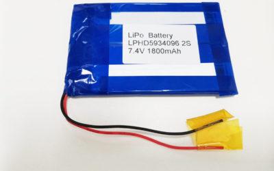 LiPo Battery LPHD5934096 2S 7.4V 1800mAh