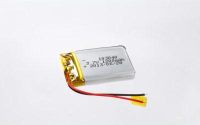 LiPo Battery LP103040 3.7V 1200mAh