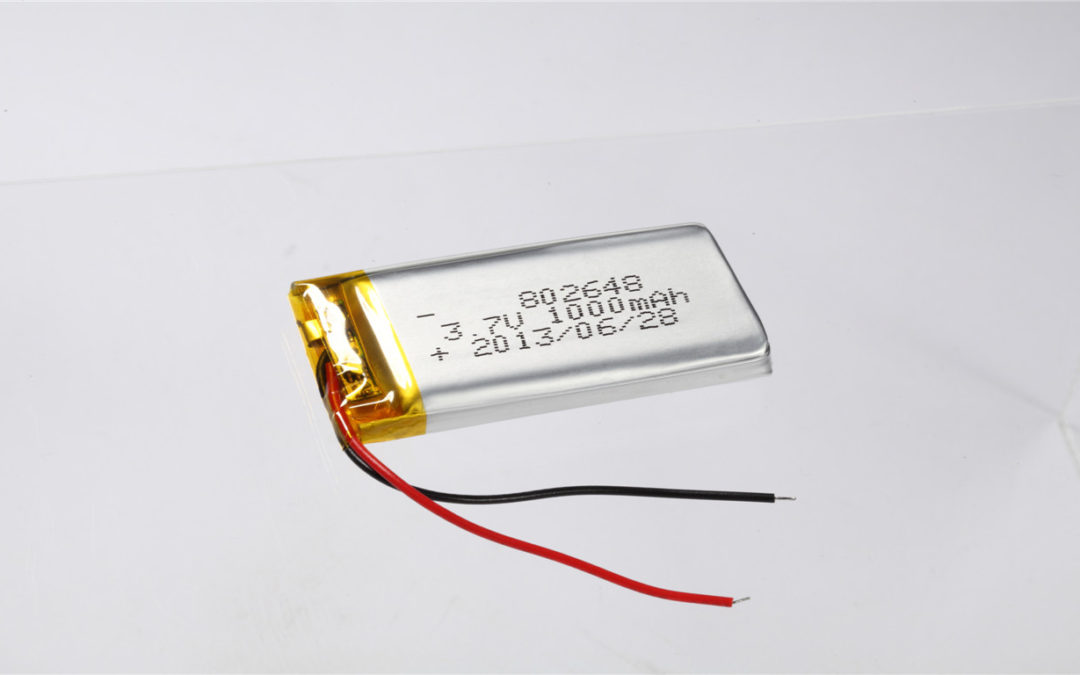 LiPo Battery LP802648 3.7V 1000mAh