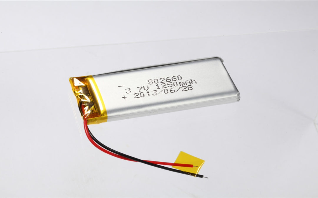 LiPo Battery LP802660 3.7V 1250mAh