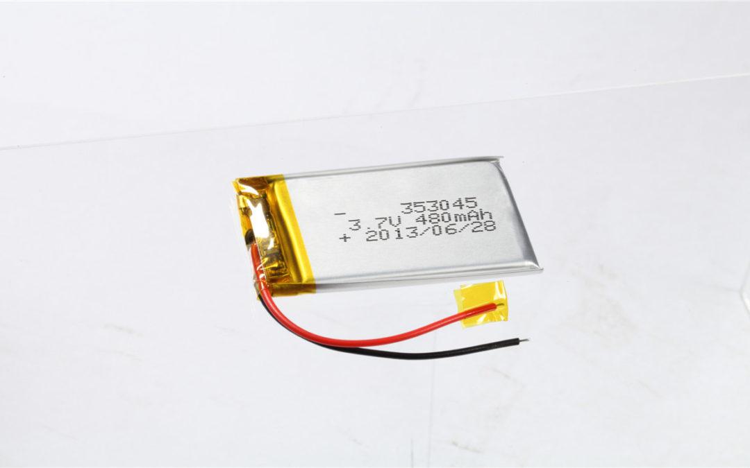 LiPo Battery LP353045 3.7V 480mAh