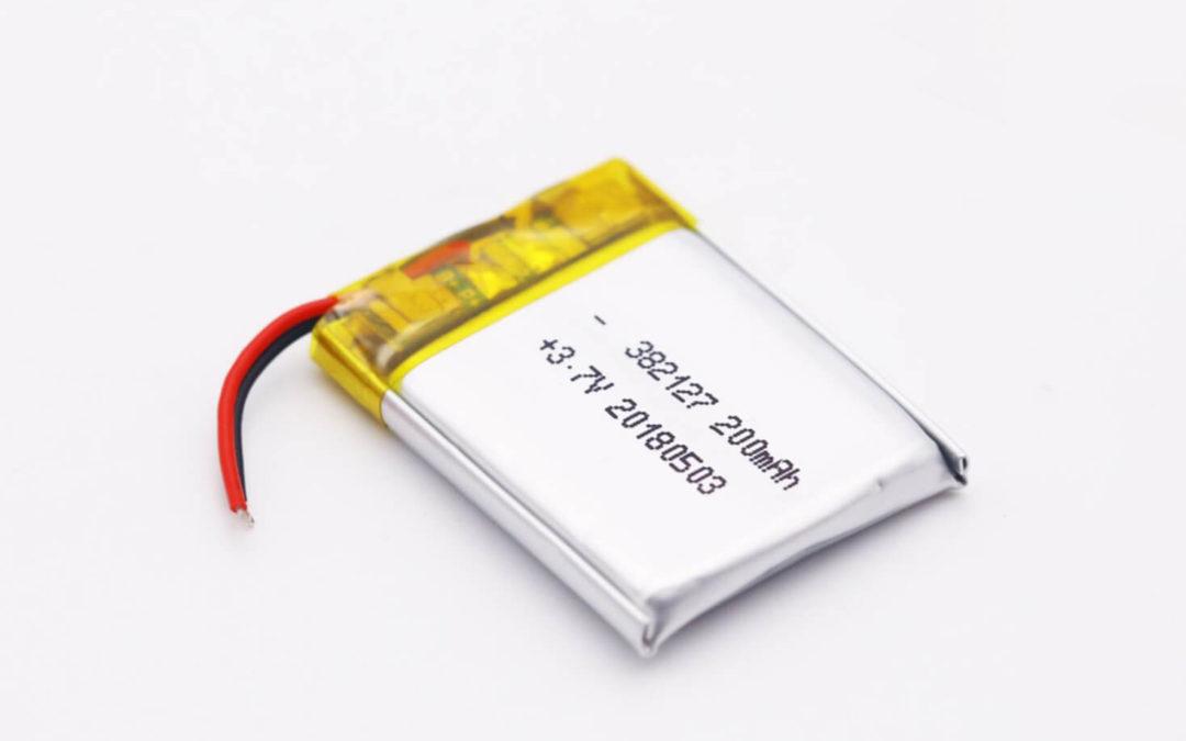 LiPo Battery LP382127 3.7V 200mAh