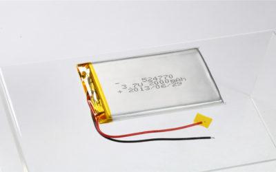 LiPo Battery LP524770 3.7V 2000mAh
