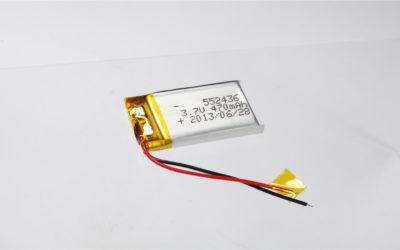 LiPo Battery LP552436 3.7V 470mAh