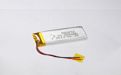 LiPo Battery LP582052 3.7V 600mAh
