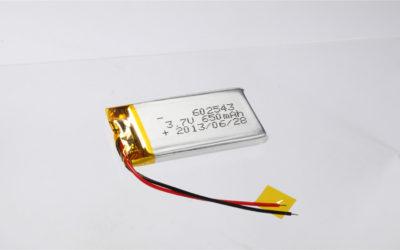 LiPo Battery LP602543 3.7V 650mAh