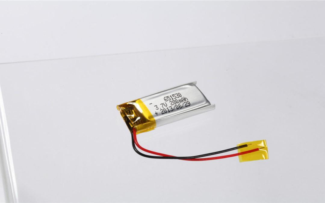 LiPo Battery LP651530 3.7V 280mAh