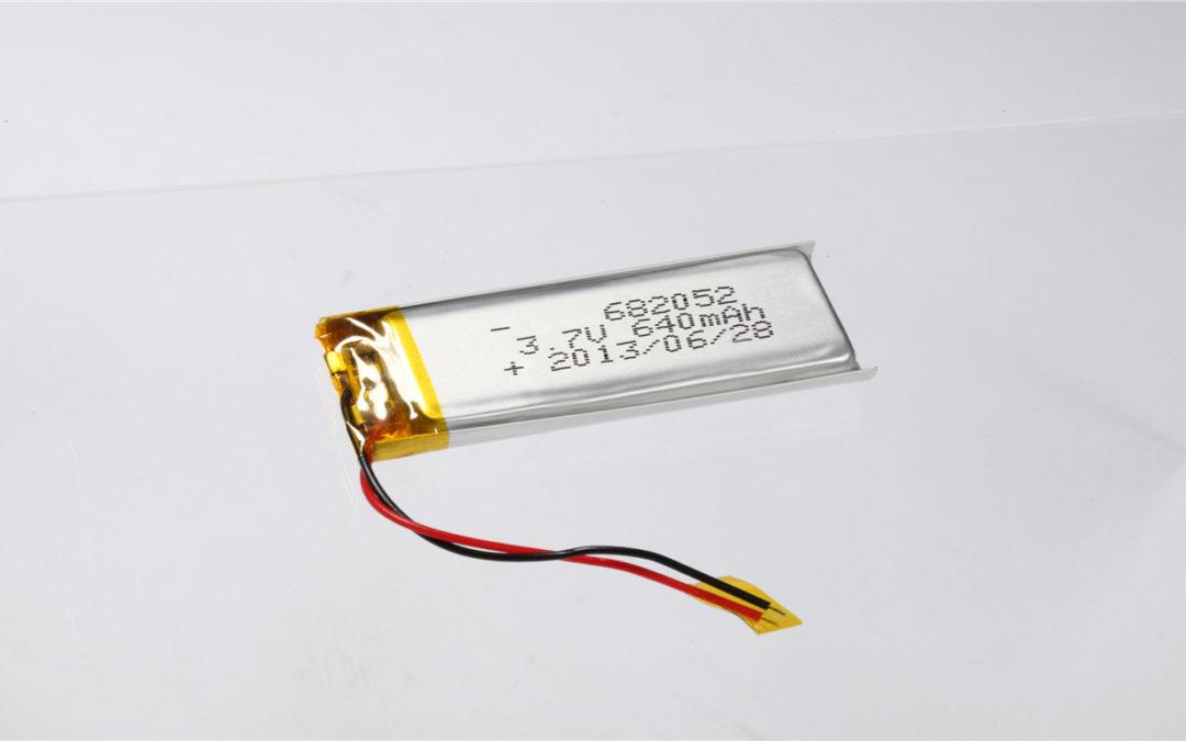 LiPo Battery LP682052 3.7V 640mAh
