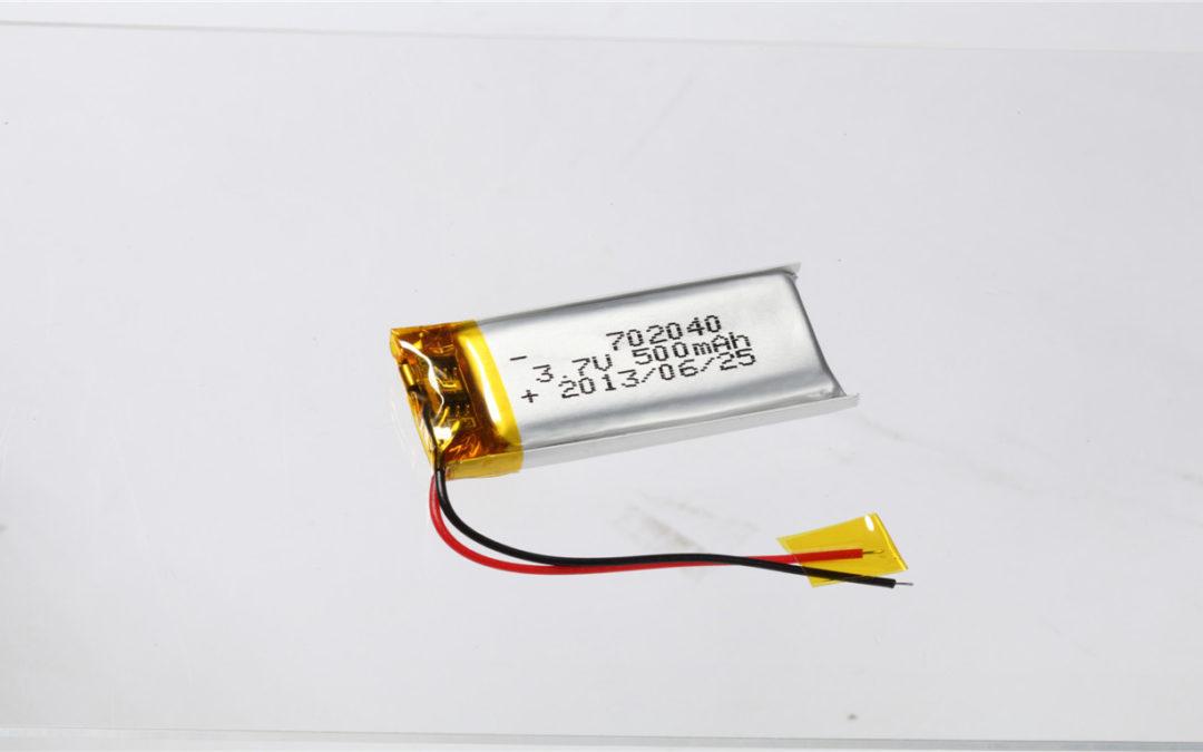 LiPo Battery LP702040 3.7V 500mAh