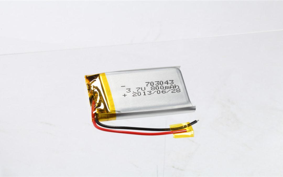 LiPo Battery LP703043 3.7V 800mAh