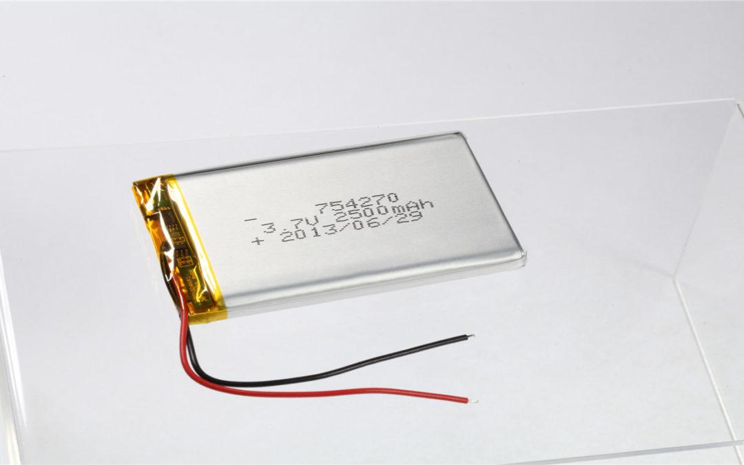 LiPo Battery LP754270 3.7V 2500mAh